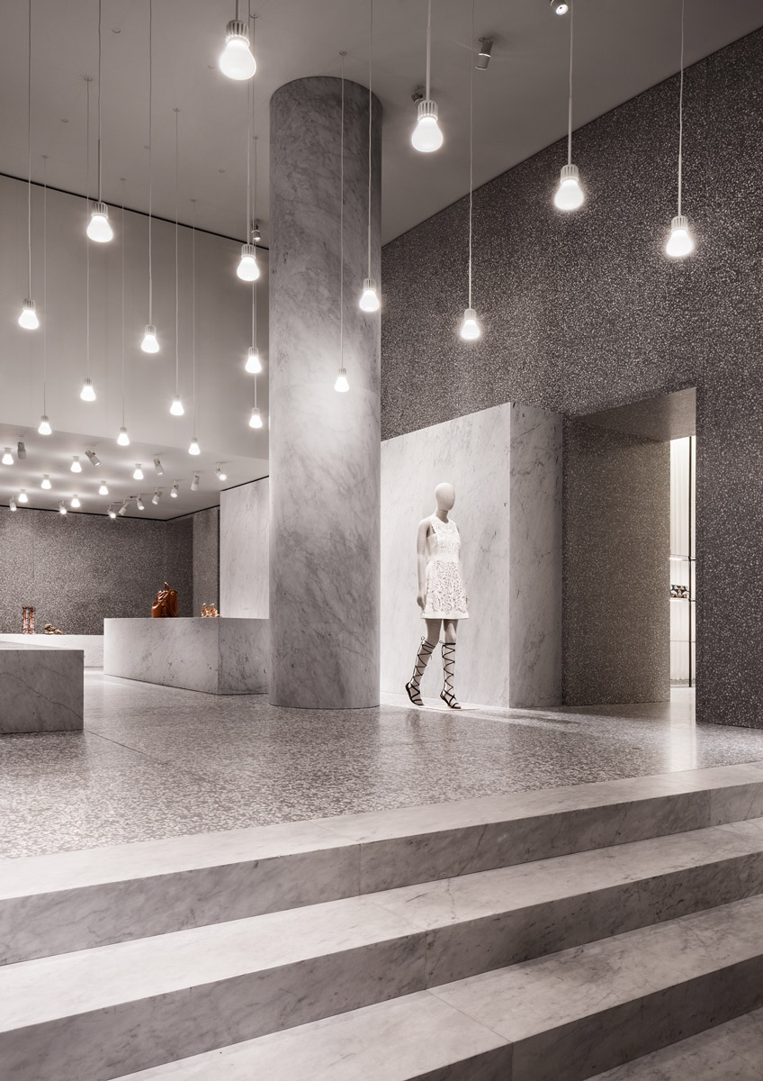 David chipperfield architects valentino flagship store for Interior design roma